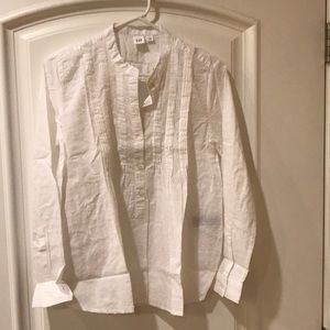 Gap petite shirt top white size S